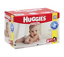 Huggies Diapers Size 2 Bg Pk - 104 Each