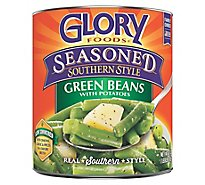 Glory Foods Seasoned Southern Style Green Beans with Potatoes - 27 Oz