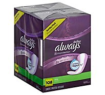 Always Daily Liners Anti-Bunch Xtra Protection Long Absorbency Unscented - 108 Count