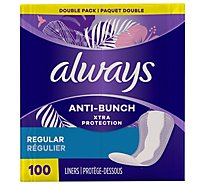 Always Dri-Liners Pantiliners Regular Unscented Double Pack - 100 Count