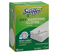 Swiffer Sweeper Dry Sweeping Cloths Refills Unscented - 16 Count