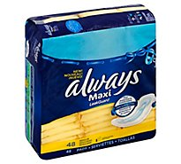Always Pads Maxi Without Wings Regular - 48 Count