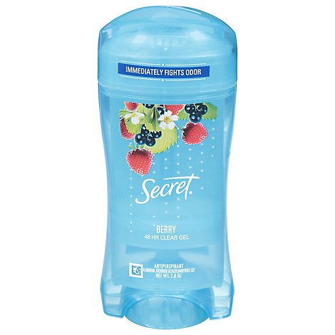 Secret Fresh Antiperspirant Deodorant Clear Gel Berry - 2.6 Oz