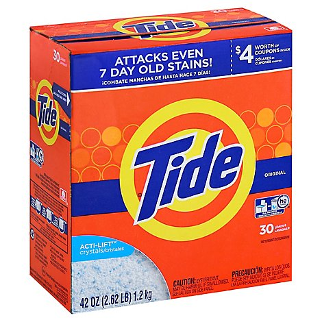 Tide Laundry Detergent Powder Original 30 Loads - 42 Oz