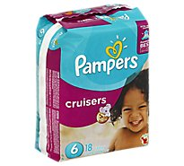 Pampers Cruisers Diapers Size 6 (35+ lb) Sesame Street - 18 Count