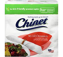 Chinet Napkins All Occasion Classic White Wrapper - 90 Count
