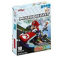 Kelloggs Fruit Flavored Snacks Assorted Mariokart 10 Count - 8 Oz