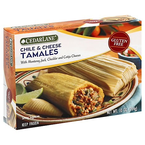 Cedarlane Frozen Meal Tamales Chile & Cheese - 10 Oz