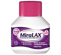 MiraLAX Powder For Constipation Relief 7 Dose - 4.1 Oz