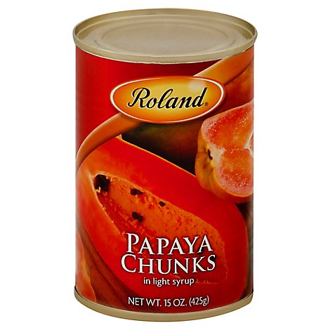 Roland Papaya Chunks in Light Syrup - 15 Oz