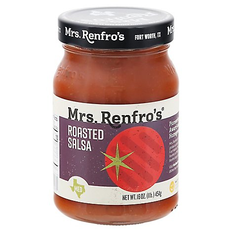 Mrs Renfros Salsa Roasted - 16 Oz