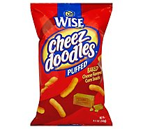 Wise Corn Snack Cheez Doodles Puffed Baked Cheese Flavored - 8.5 Oz