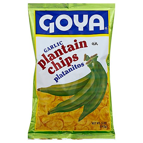 Goya Plantain Chips Garlic - 5 Oz