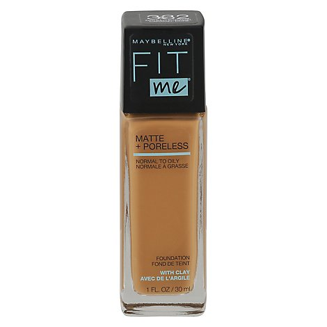 Maybel Fit Me Matte Pore Fd Caramel - 1 Fl. Oz.