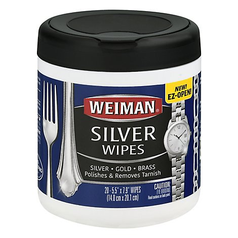 Weiman Wipes Silver - 20 Count