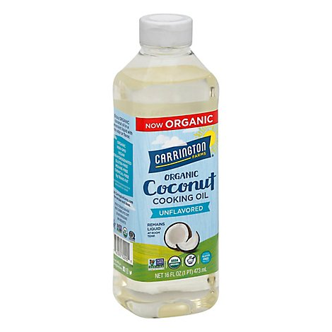Carrington Farms Cooking Oil Coconut - 16 Oz