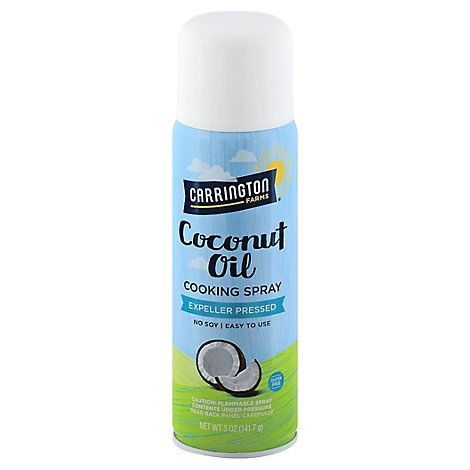 Carrington Farms Cooking Spray Coconut Oil Expeller Pressed - 5 Oz