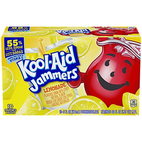 Kool-Aid Jammers Juice Drink Lemonade - 10-6 Fl. Oz.