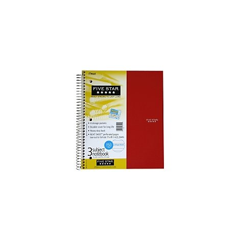 Mead Five Star Notebook Trend - 150 Count