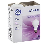 GE Soft White 15 A/W 15 Watt - 2 Count