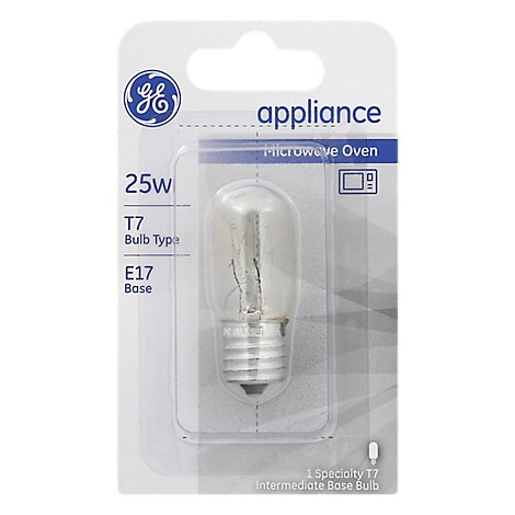 GE Light Bulbs Appliance T7 Clear 25 Watts - Each