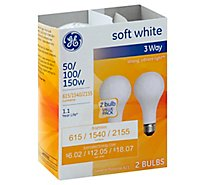 GE Soft White 3 Way 50 100 150 - 2 Count