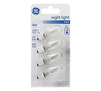 GE Light Bulbs Night Clear 4 Watt - 4 Count