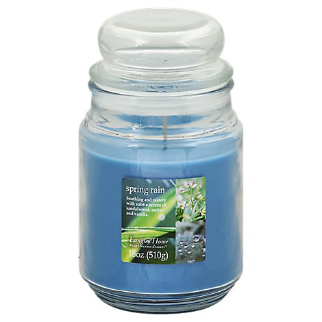 Langley Home Candle Scented Spring Rain - 18 Oz