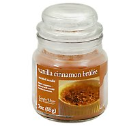 Langley Home Candle Scented Vanilla Cinnamon Brulee - 3 Oz