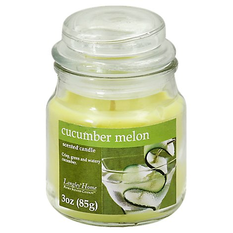Langley Home Candle Scented Cucumber Melon - 3 Oz