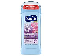 Suave Anti-perspirant Deodorant Invisible Solid 24 Hour Protection Sweet Pea & Violet - 2.6 Oz