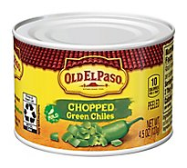 Old El Paso Green Chiles Chopped Mild Can - 4.5 Oz