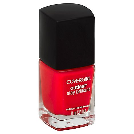COVERGIRL Outlast Stay Brilliant Nail Gloss Red-Dy and Willing 100 - 0.37 Fl. Oz.