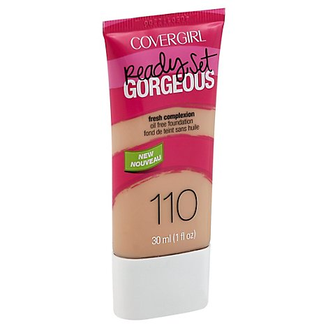 COVERGIRL Ready Set Gorgeous Foundation Oil Free Fresh Complexion Creamy Natural 110 - 1 Fl. Oz.