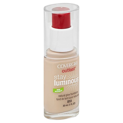 COVERGIRL Outlast Foundation Stay Luminous Natural Glow Classic Ivory 810 - 1 Fl. Oz.
