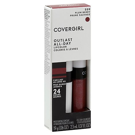 COVERGIRL Outlast Lipcolor All-Day Plum Berry 559 2 Count - 0.13 Oz