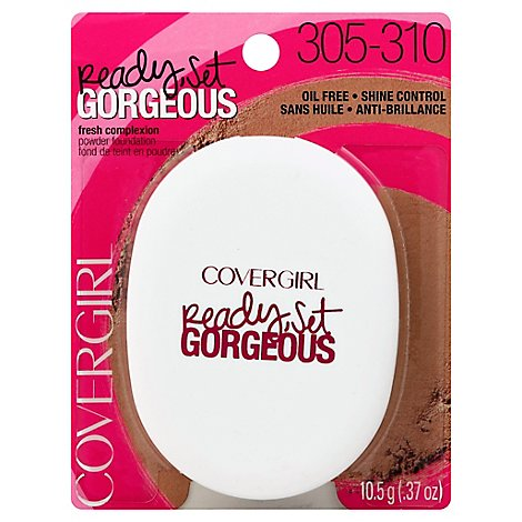 COVERGIRL Ready Set Gorgeous Powder Foundation Medium/Deep 305/310 - 0.37 Oz