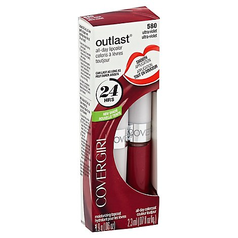 COVERGIRL Outlast Lipcolor All-Day Ultra Violet 580 2 Count - 0.13 Oz