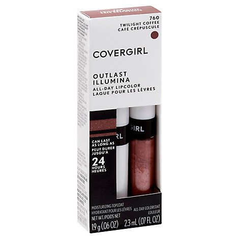 COVERGIRL Outlast Lipcolor All-Day Illumina Twilight Coffee 760 2 Count - 0.13 Oz