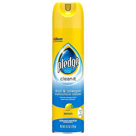 Pledge Dust & Allergen Multisurface Cleaner Lemon 9.7 oz