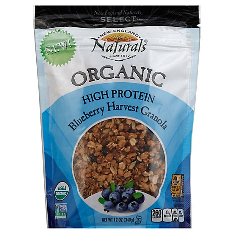 New England Naturals Organic Granola High Protein Blueberry Harvest - 12 Oz