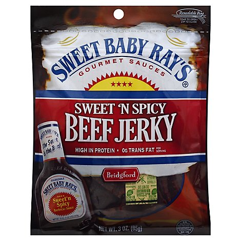 Bridgford Sweet Baby Rays Beef Jerky Sweet N Spicy - 3 Oz