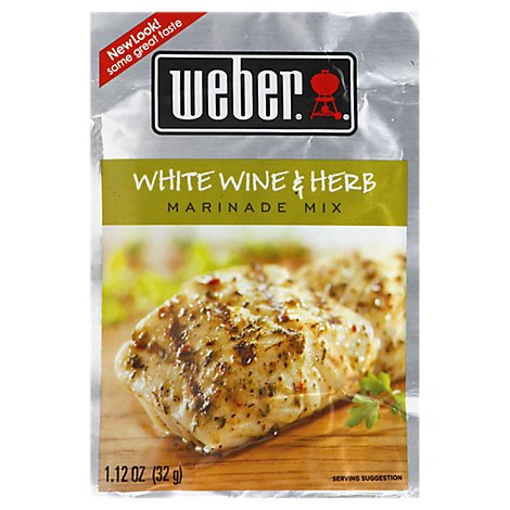 Weber Marinade Mix White Wine & Herb - 1.12 Oz