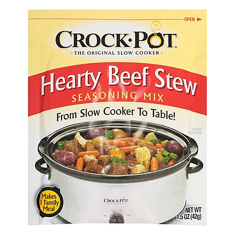 Crock Pot Seasoning Mix Hearty Beef Stew - 1.5 Oz