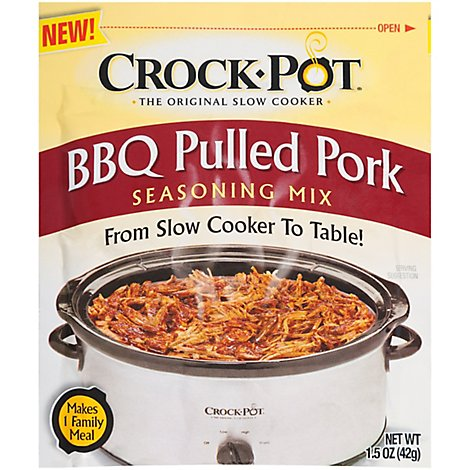 Crock Pot Seasoning Mix BBQ Pulled Pork - 1.5 Oz