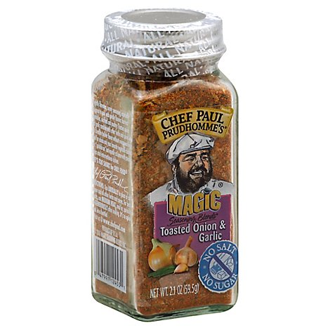 Chef Paul Prudhommes Seasoning Magic Blends Toasted Onion & Garlic - 2.1 Oz