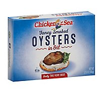 Chicken of the Sea Oysters Smoked Fancy in Oil - 3.75 Oz