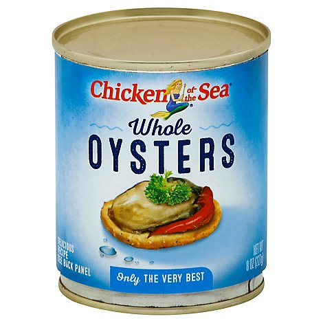 Chicken of the Sea Oysters Whole - 8 Oz