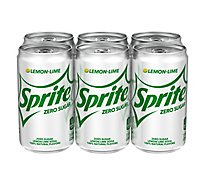 Sprite Soda Zero Sugar Lemon Lime Cans - 6-7.5 Fl. Oz.