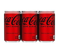 Coca-Cola Soda Zero Sugar Cans - 6-7.5 Fl. Oz.